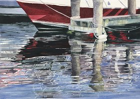 Tied to Reflections watercolor gicl'ee reproduction available