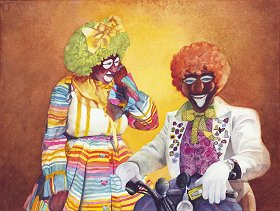 Just Clown'in Around watercolor gicl'ee reproduction available