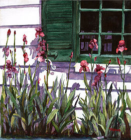 "Window Peepers 15"" x 14"" watercolor gicl'ee reproduction available"