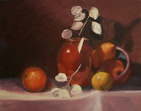 "Still Life Glimmer 20"" x 16"" oil on board $500"