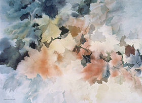 Oregon Harvest 36 x 28 watercolor