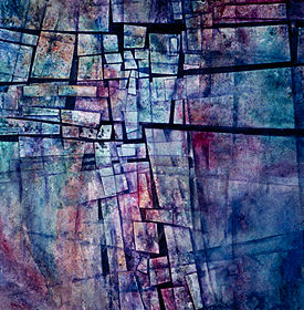 "Spiritual Mosaic 28"" x 28"" collage"