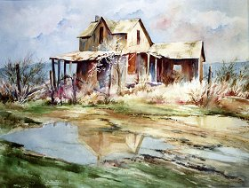 "Reflections of the Past 25"" x 30"" watercolor Giclee available"