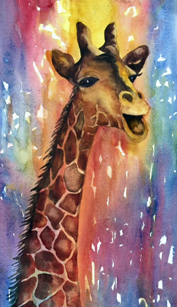"""I'll Sing the High Notes"" Watercolor"