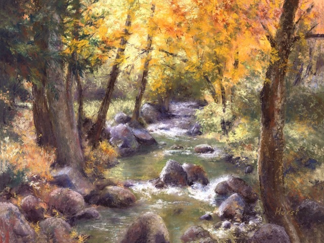 """Ashland Creek"" pastel Giclee's available"