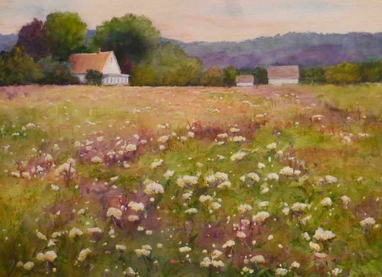 """Morning Meadow"" watercolor"