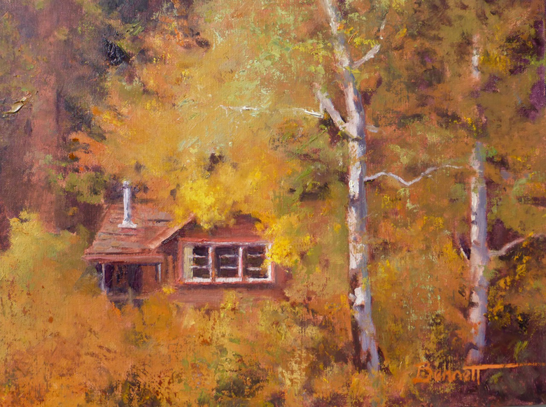 """Rocky Point Autumn"" oil"