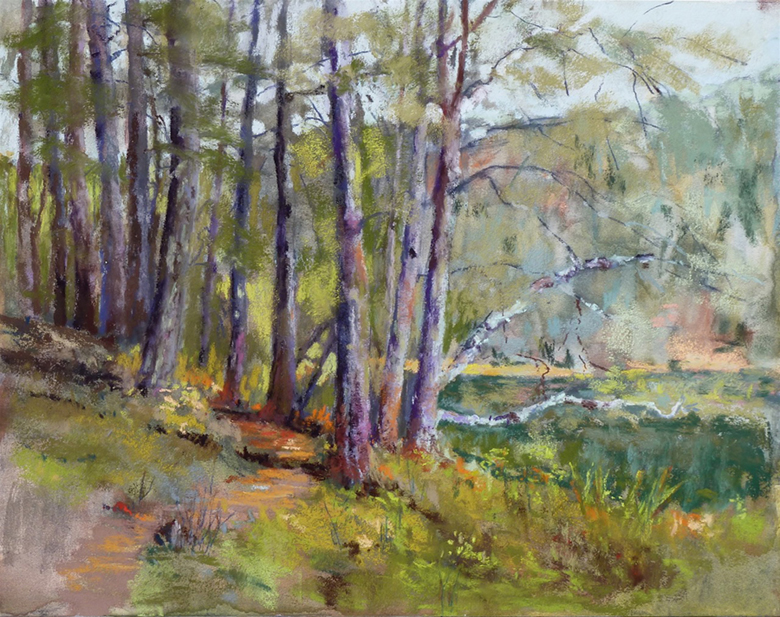 """""""The Trail"""" pastel"""