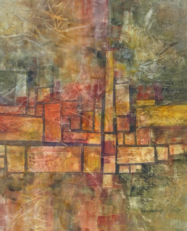 """Nature's Patterns"" mixed media 25 x 29 - Linda Boutacoff"
