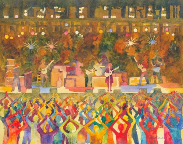 """Encore"" watercolor by Betty Barss Britt Festival Poster 2016"