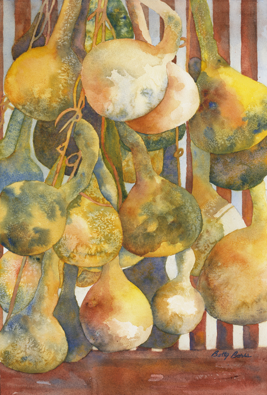 """""""Hanging Out"""" watercolor"""