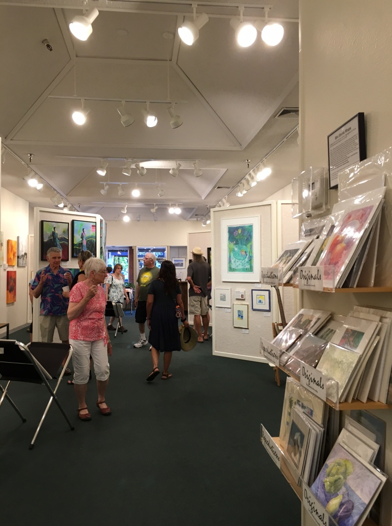 Visitors enjoying the Art at Art & Soul Gallery