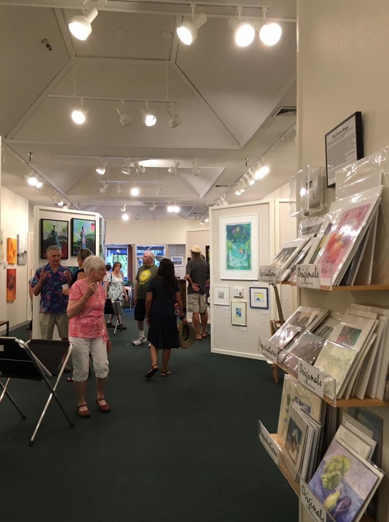 Visitors enjoying the Art at Art & Soul Gallery