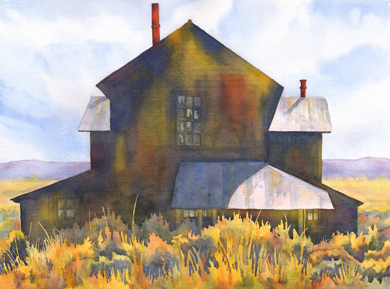 """Shirk Ranch"" 28 1/2″ x 21″ watercolor gicl'ee available"