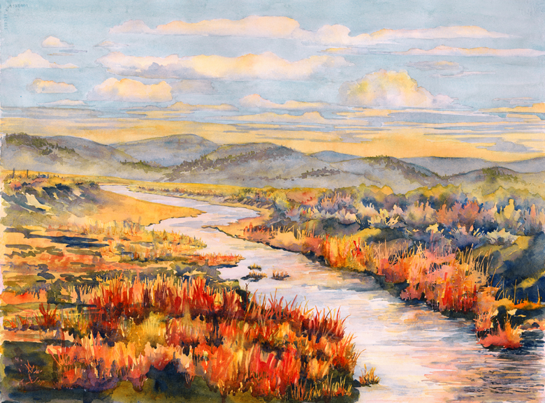 """Snyder Creek"" 29″ x 21 1/2″ watercolor gicl'ee available"