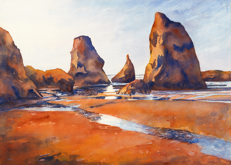 """Sun Reflections"" 21 1/2″ x 15″ watercolor gicl'ee available"