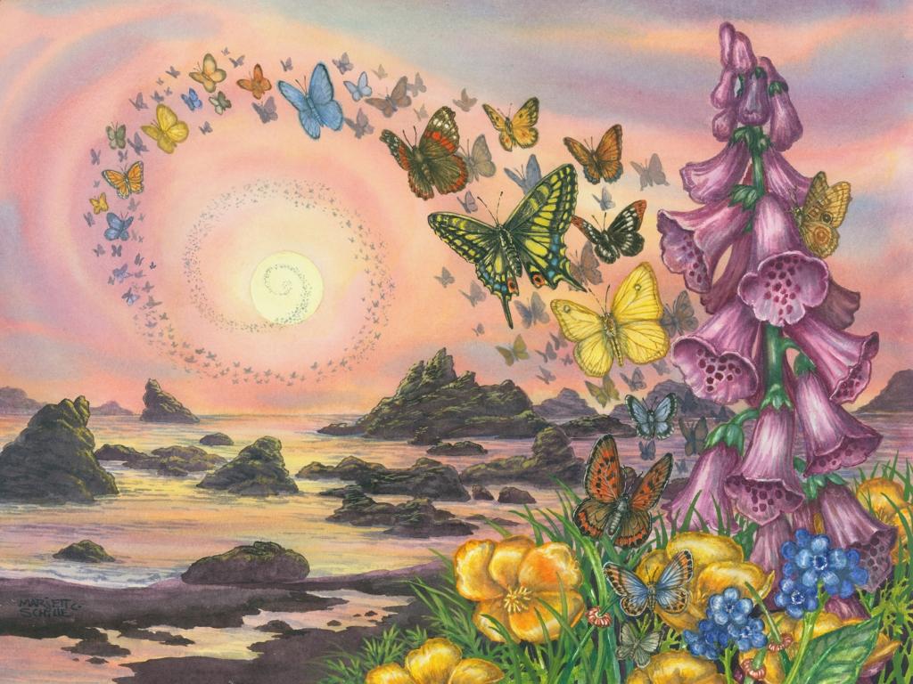 """""""Eternity's Children"""" watercolor"""