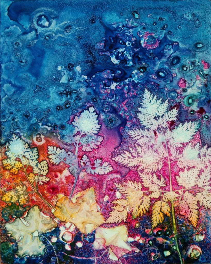 """""""Moonglow"""" watermedia by Pam Haunschild"""