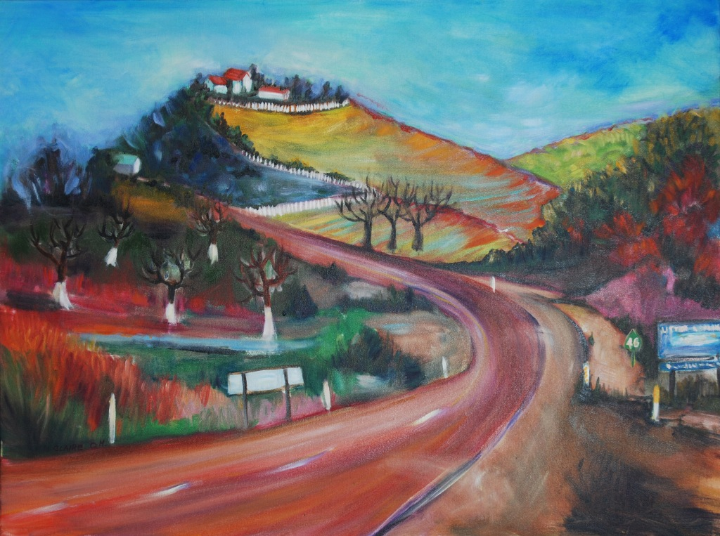 west-on-hwy-46-30x40-oil Claire O. Harkins