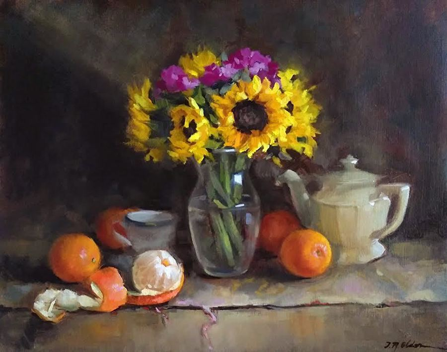 Sunflowers and Oranges by Jenay Elder