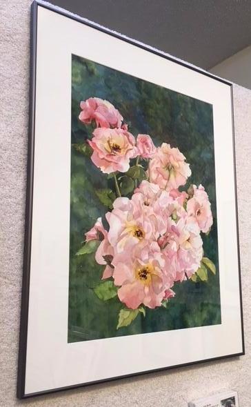 """""""Symplicity Roses"""" watercolor by Judy Bjorlie"""