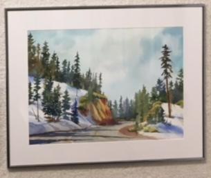 """Colorful Corner"" watercolor by Judy Bjorlie"