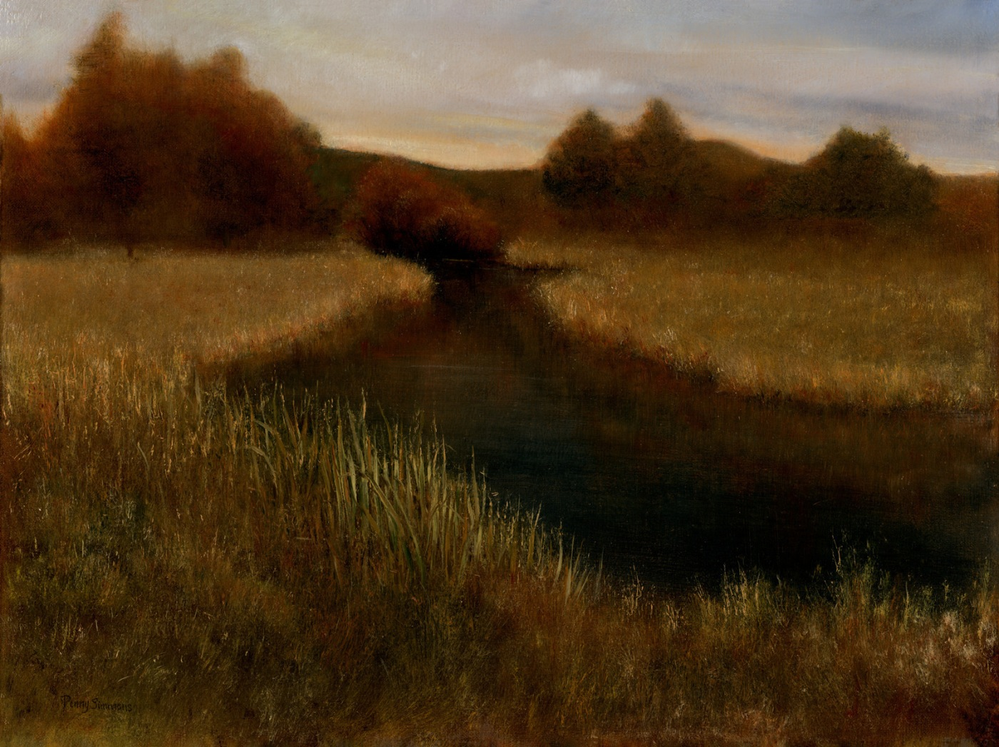 """Sundown"" oil by Penny Simmons"