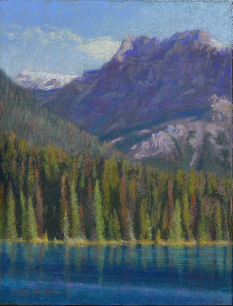 """Emerald Lake"" pastel by Carla Griffin"
