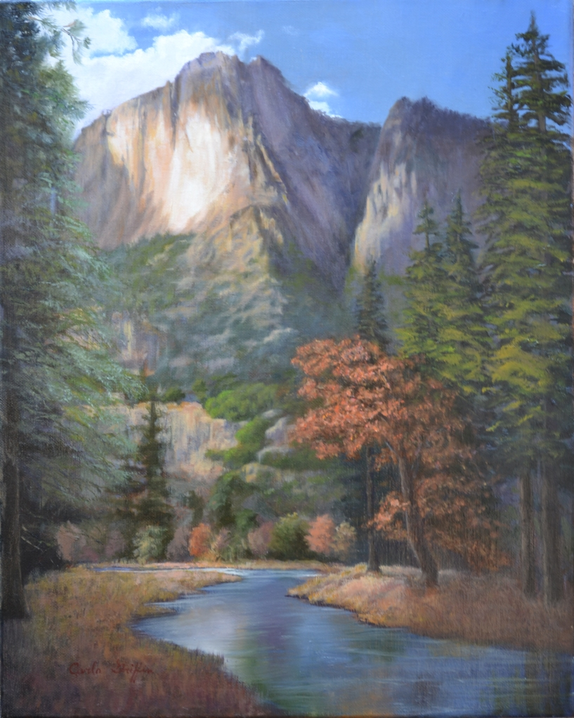 """Yosemite Cloud Shadows"" pastel by Carla Griffin"