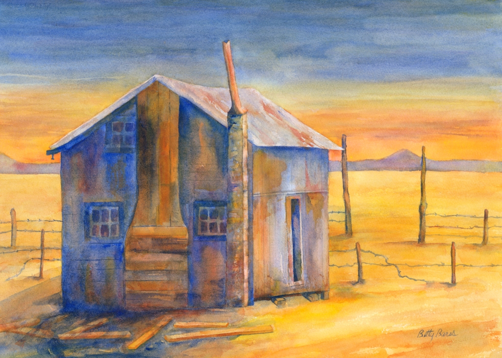 """""""Blue Joint"""" watercolor by Betty Barss"""