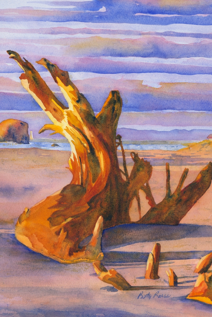 """""""Natures Statue"""" watercolor by Betty Barss"""