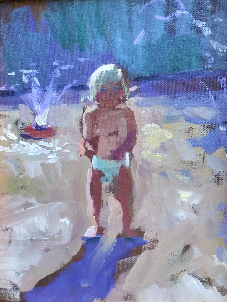 """""""August"""" oil by Jenay Elder"""